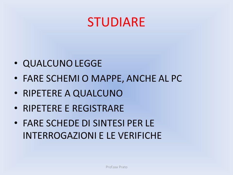 STUDIARE QUALCUNO LEGGE FARE SCHEMI O MAPPE, ANCHE AL PC
