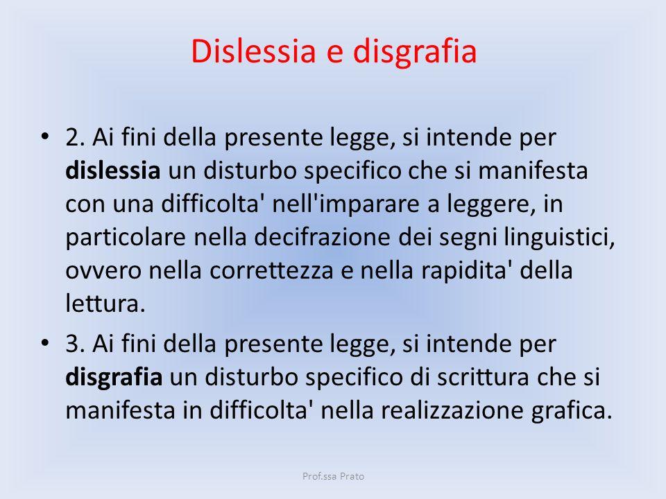 Dislessia e disgrafia