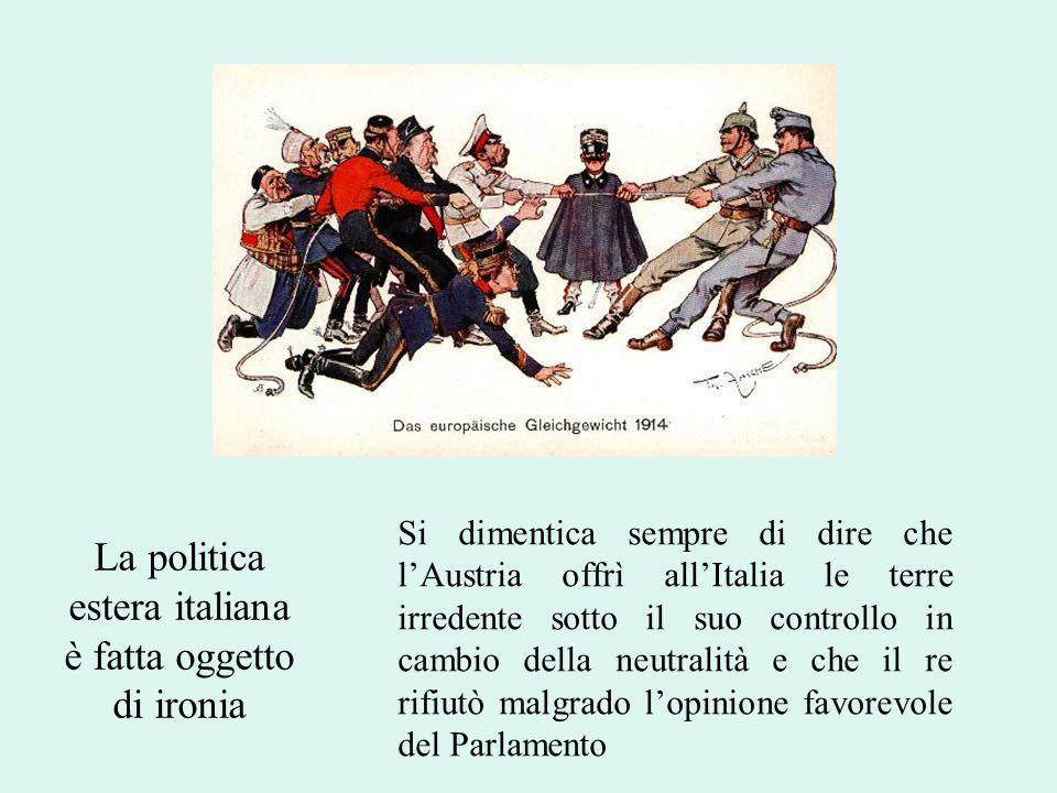 La politica estera italiana è fatta oggetto di ironia
