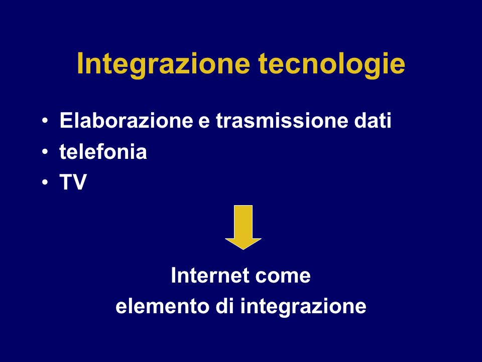 Integrazione tecnologie