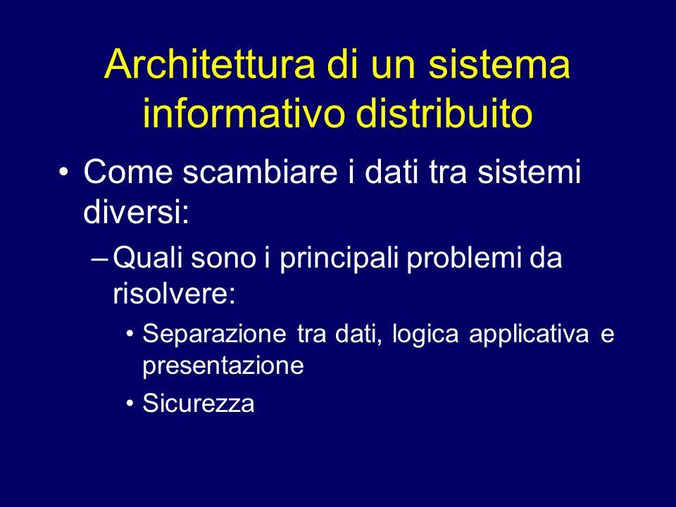 Architettura di un sistema informativo distribuito