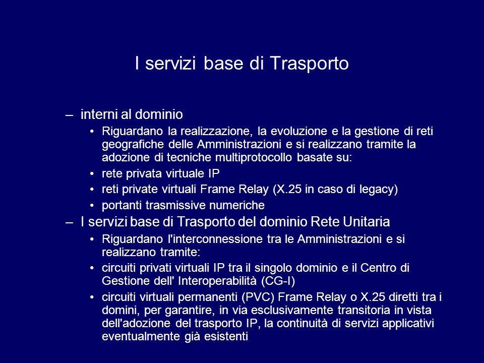 I servizi base di Trasporto