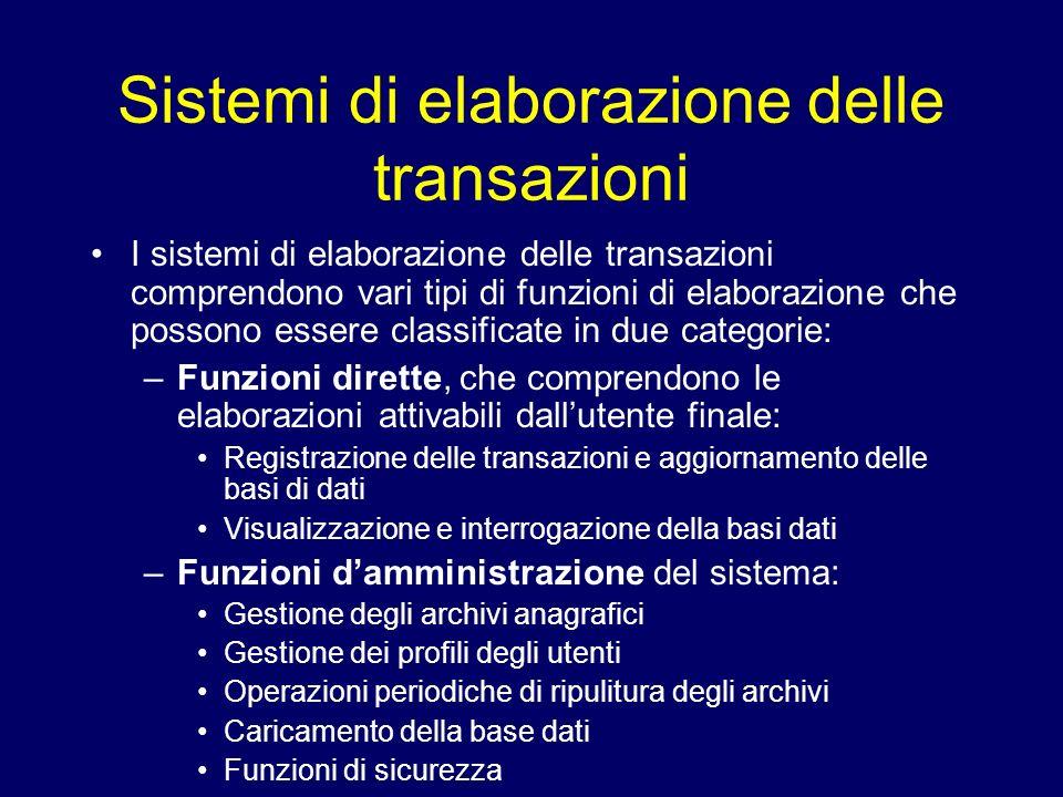 Sistemi di elaborazione delle transazioni
