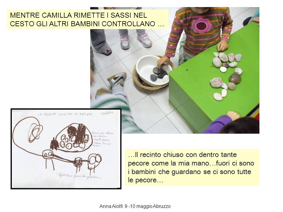 MENTRE CAMILLA RIMETTE I SASSI NEL