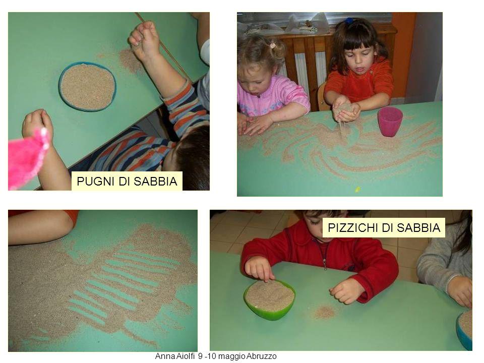 A ogni bambino diamo una ciotola piena di sabbia con la consegna di spostare la sabbia sul tavolo come si vuole contando la quantità con i pizzichi, i pugni le mani ciotole…