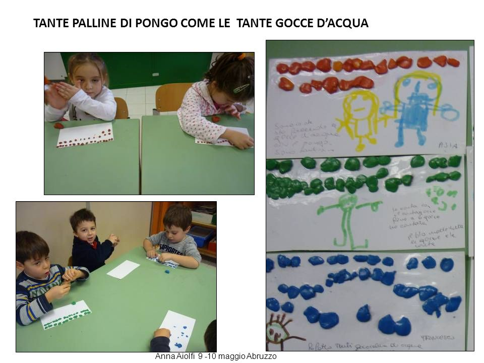 TANTE PALLINE DI PONGO COME LE TANTE GOCCE D'ACQUA