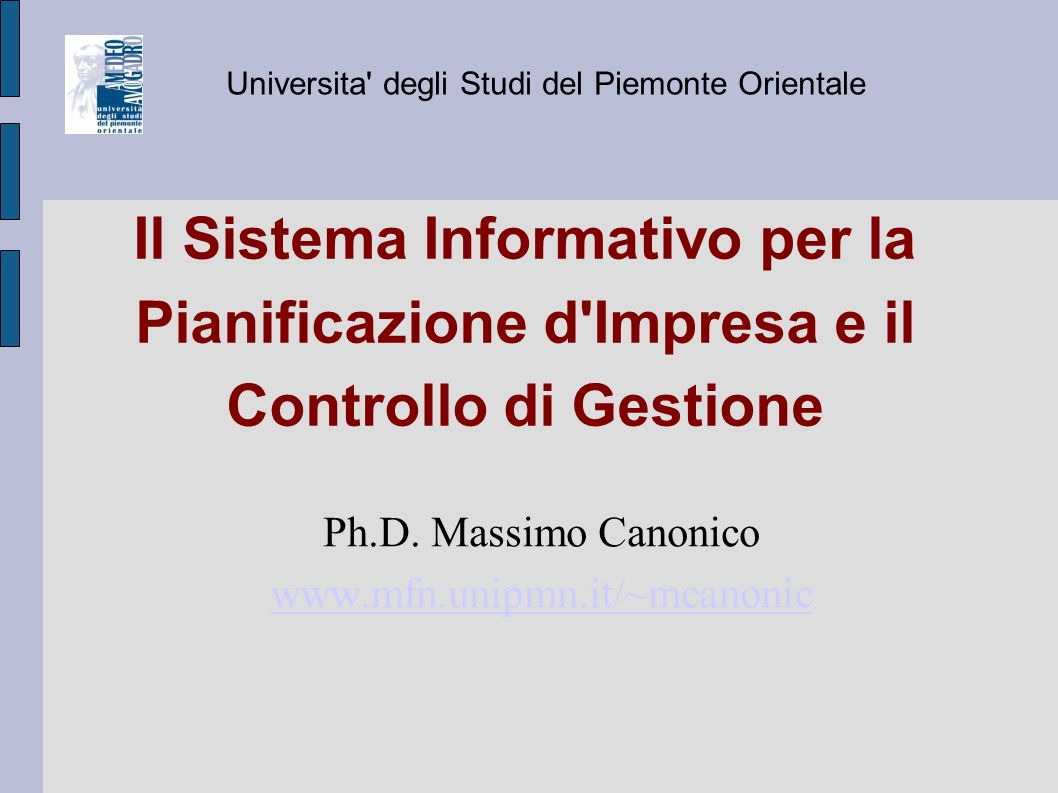 Ph.D. Massimo Canonico www.mfn.unipmn.it/~mcanonic