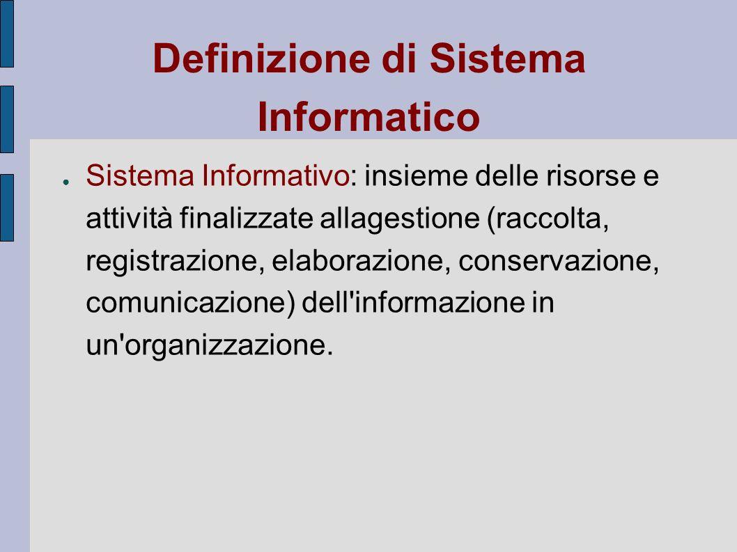 Definizione di Sistema Informatico
