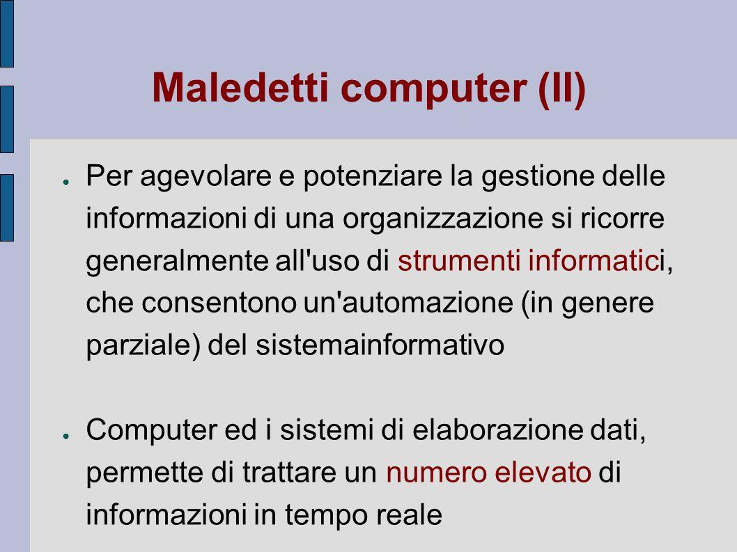 Maledetti computer (II)
