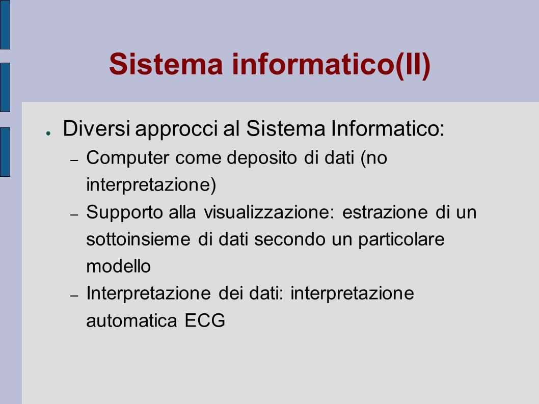 Sistema informatico(II)