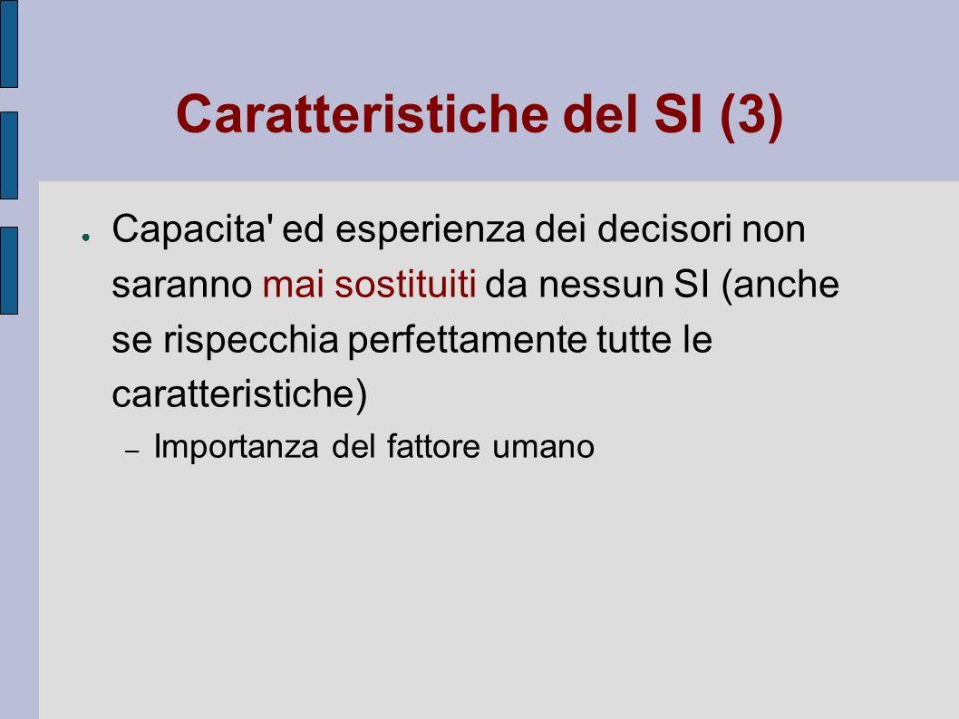 Caratteristiche del SI (3)