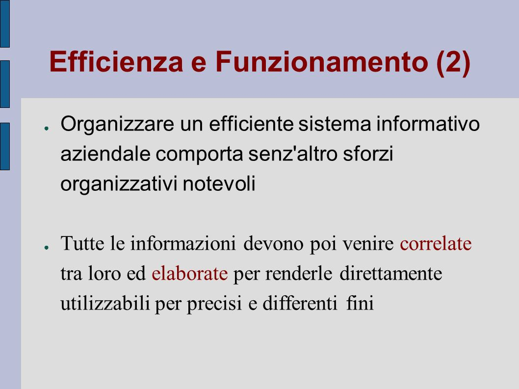 Efficienza e Funzionamento (2)