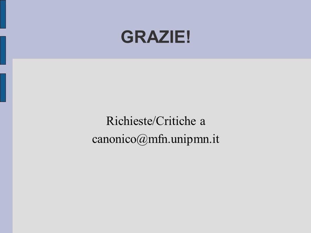 Richieste/Critiche a canonico@mfn.unipmn.it