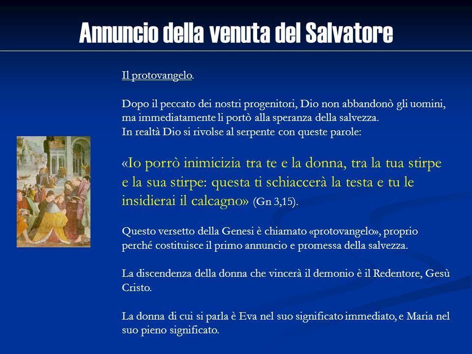 Annuncio della venuta del Salvatore