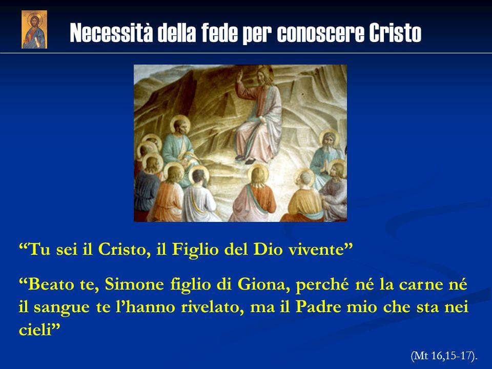 Necessità della fede per conoscere Cristo