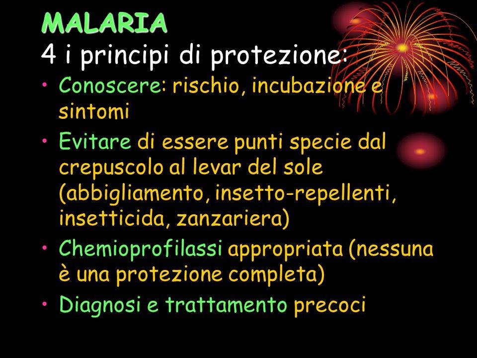 MALARIA 4 i principi di protezione: