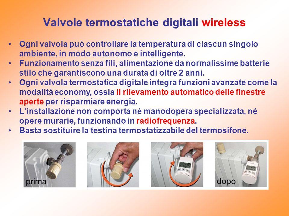Valvole termostatiche digitali wireless