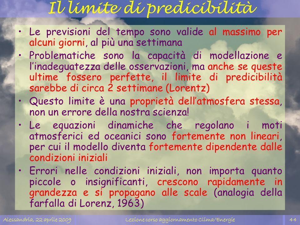 Il limite di predicibilità