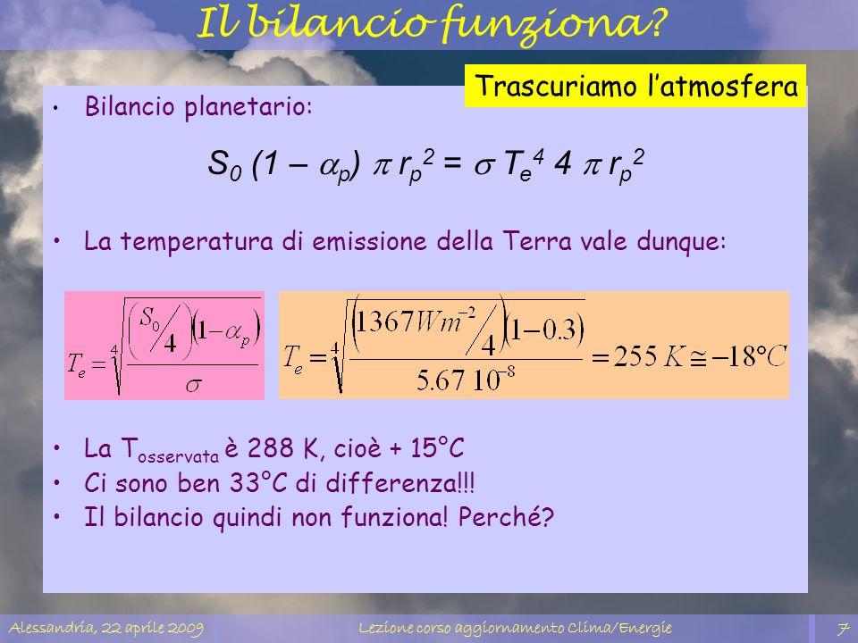 Lezione corso aggiornamento Clima/Energie