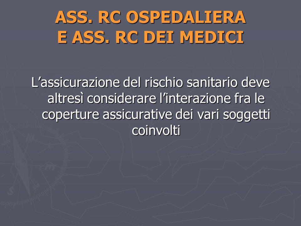 ASS. RC OSPEDALIERA E ASS. RC DEI MEDICI