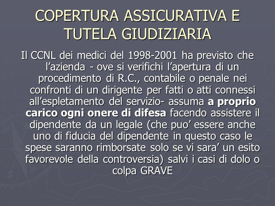 COPERTURA ASSICURATIVA E TUTELA GIUDIZIARIA