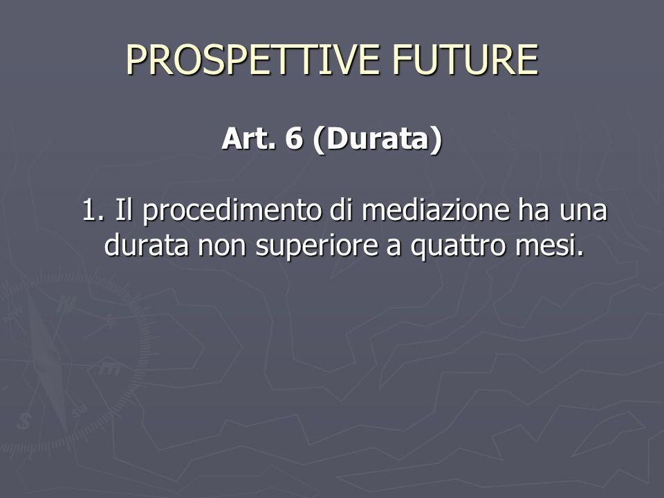 PROSPETTIVE FUTURE Art. 6 (Durata) 1.