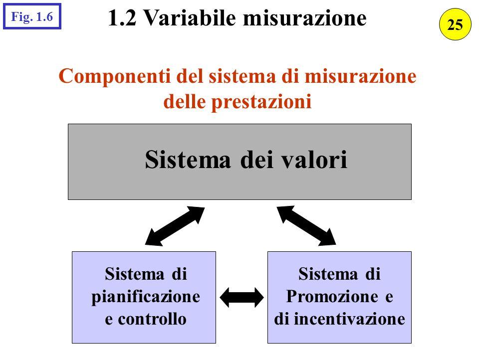 1.2 Variabile misurazione Componenti del sistema di misurazione