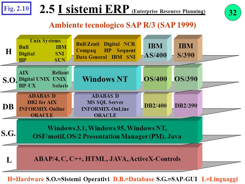 2.5 I sistemi ERP (Enterprise Resource Planning)