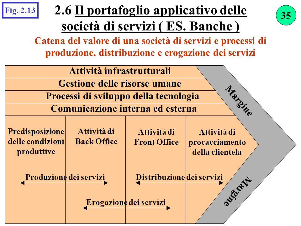 2.6 Il portafoglio applicativo delle società di servizi ( ES. Banche )