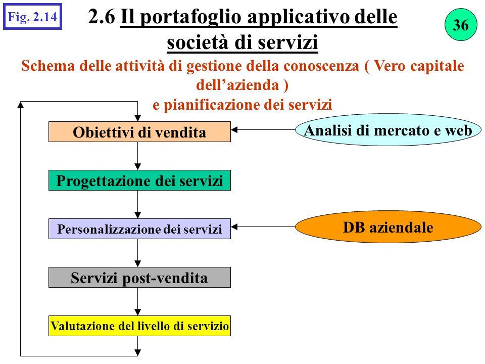 2.6 Il portafoglio applicativo delle società di servizi