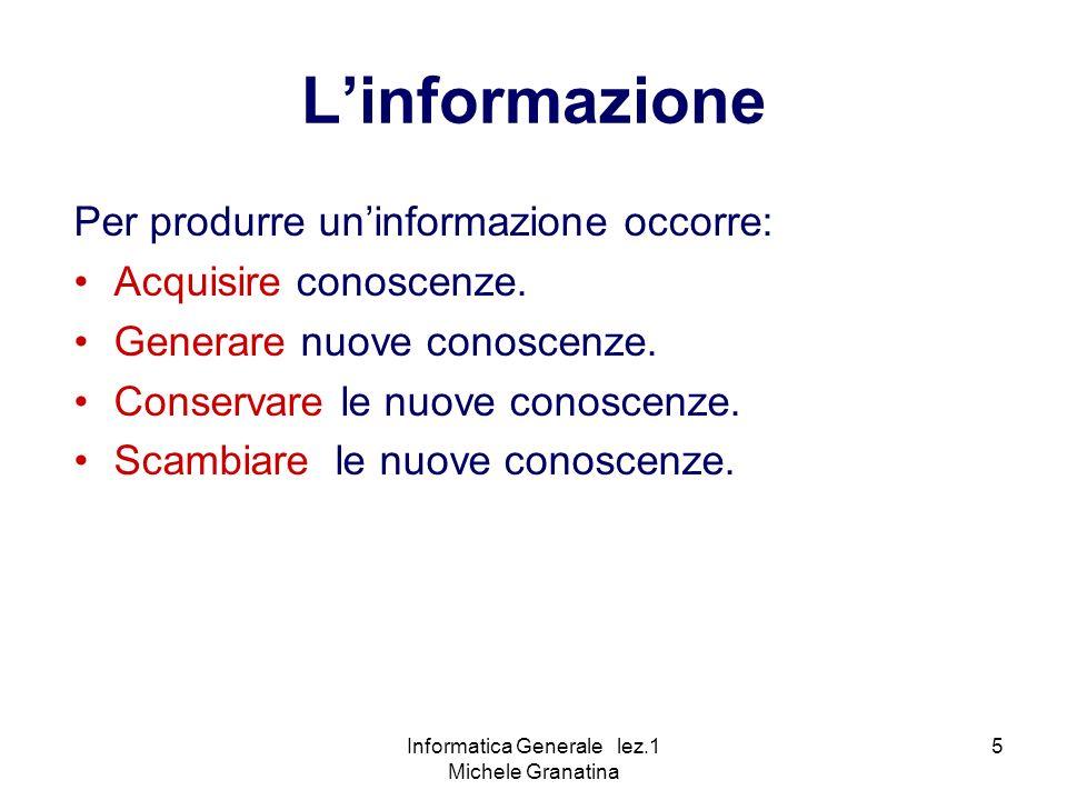 Informatica Generale lez.1 Michele Granatina