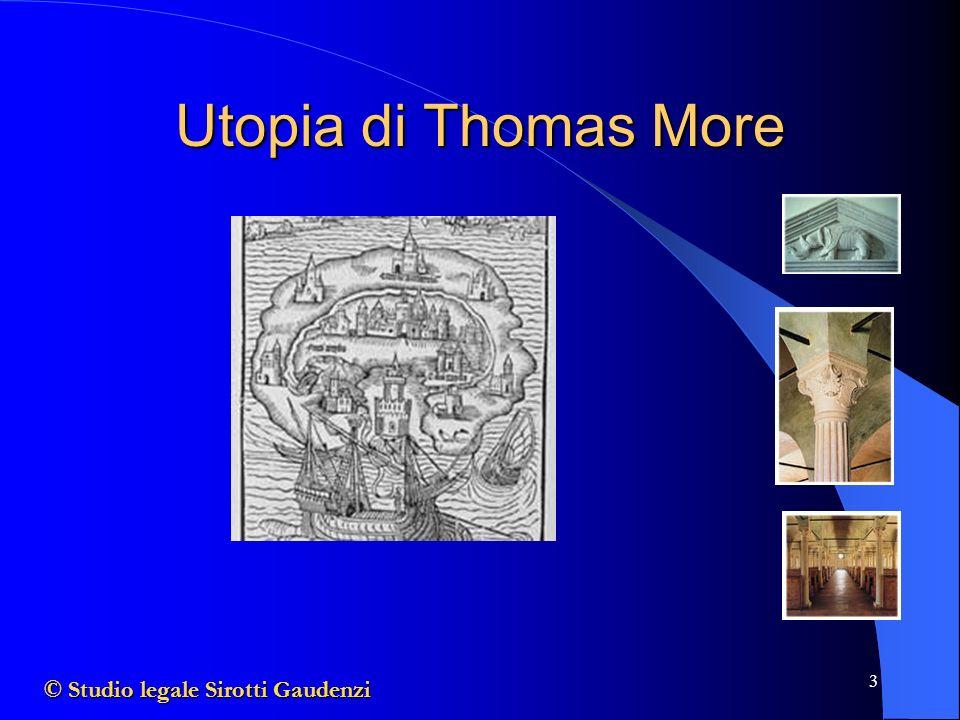 Utopia di Thomas More © Studio legale Sirotti Gaudenzi
