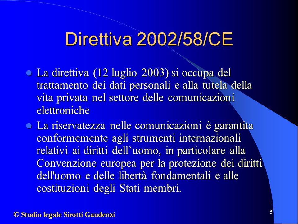 Direttiva 2002/58/CE