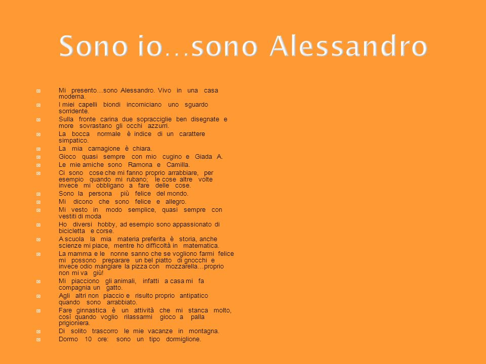 Sono io…sono Alessandro