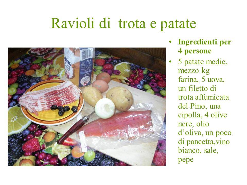Ravioli di trota e patate