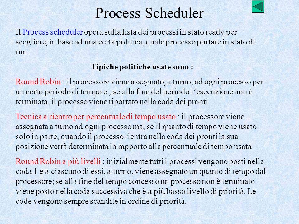 Tipiche politiche usate sono :