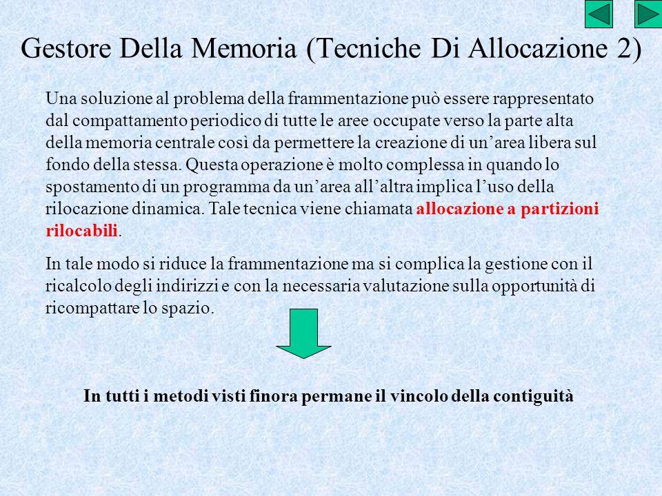 Gestore Della Memoria (Tecniche Di Allocazione 2)