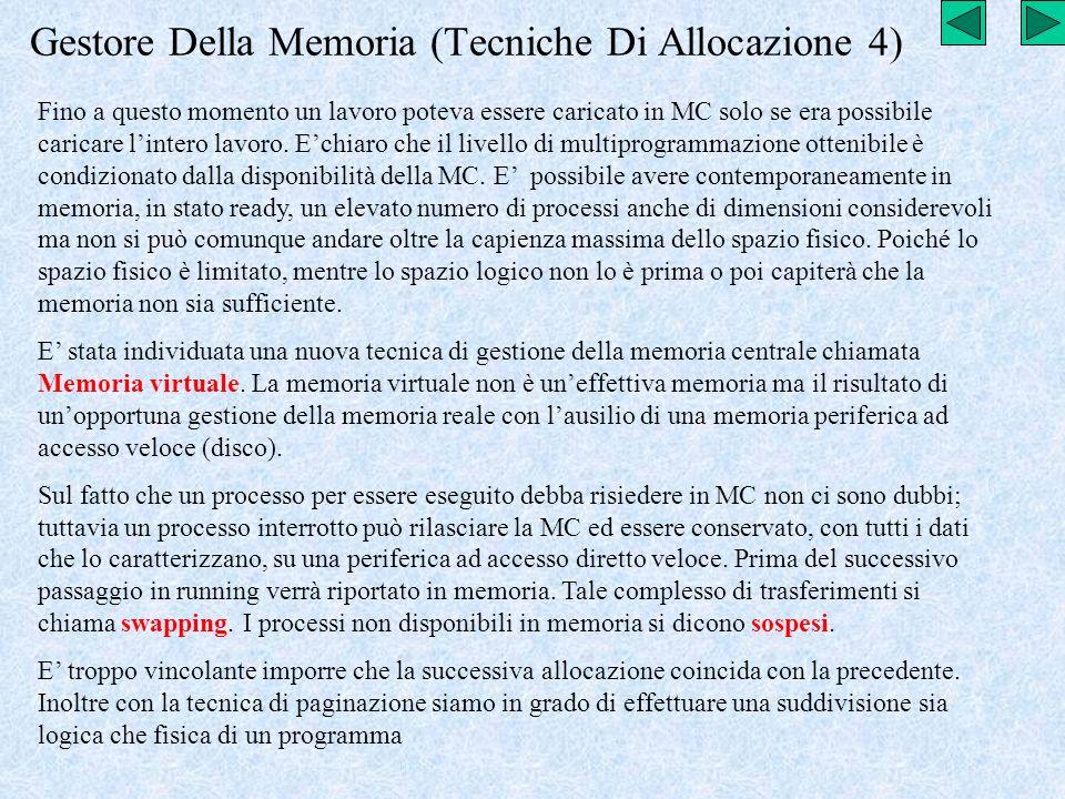 Gestore Della Memoria (Tecniche Di Allocazione 4)