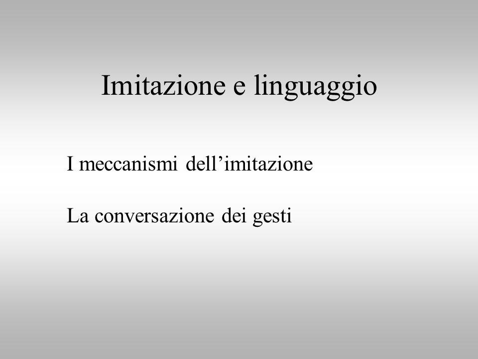 Imitazione e linguaggio