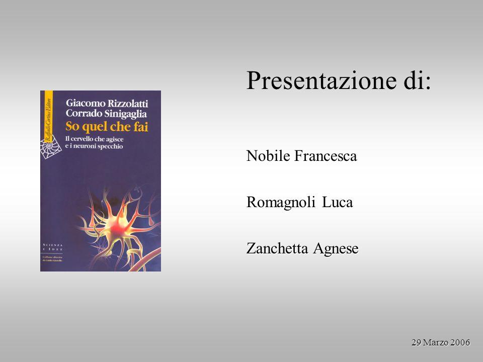 Presentazione di: Nobile Francesca Romagnoli Luca Zanchetta Agnese