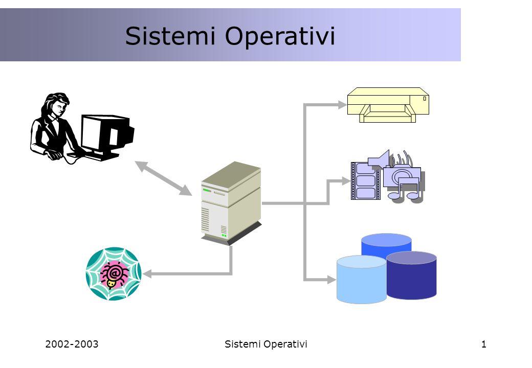 Sistemi Operativi 2002-2003 Sistemi Operativi