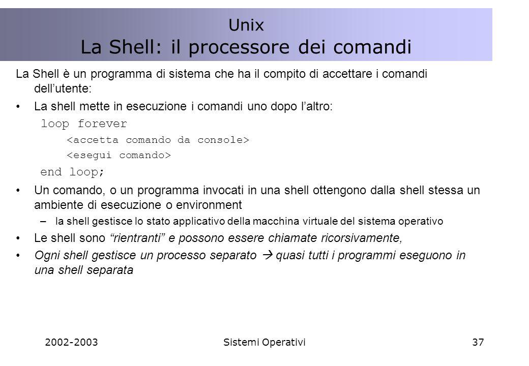 La Shell: il processore dei comandi
