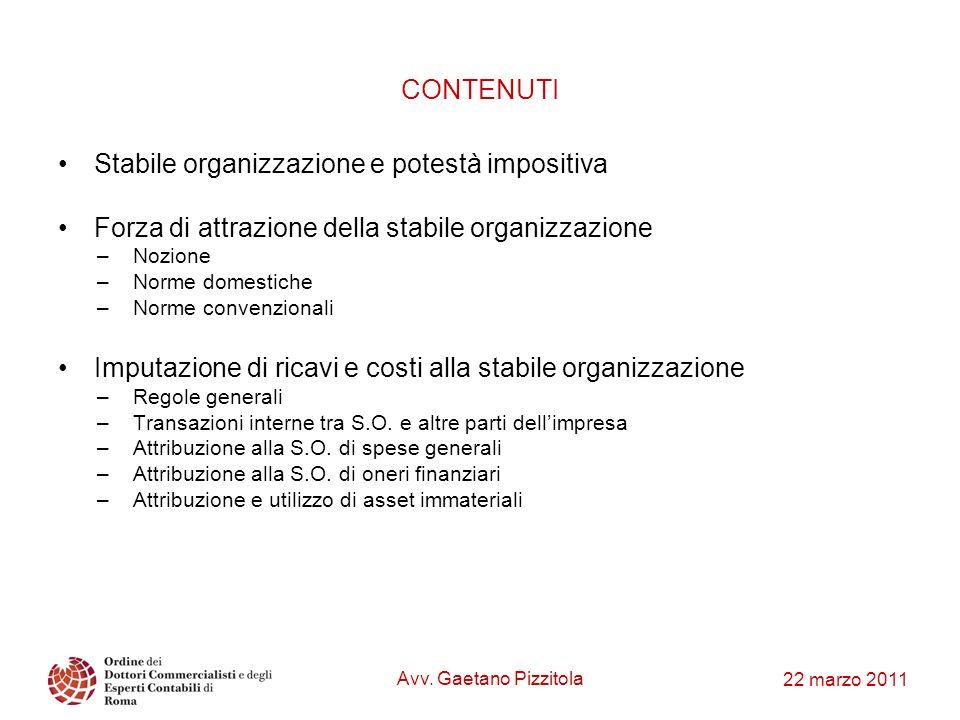 Stabile organizzazione e potestà impositiva
