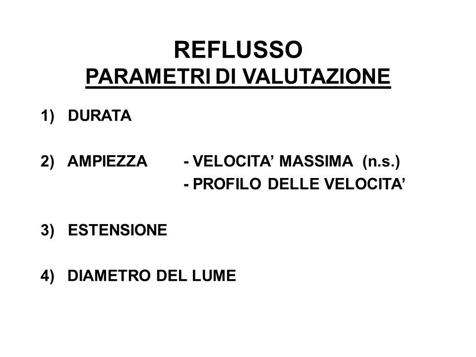 REFLUSSO PARAMETRI DI VALUTAZIONE