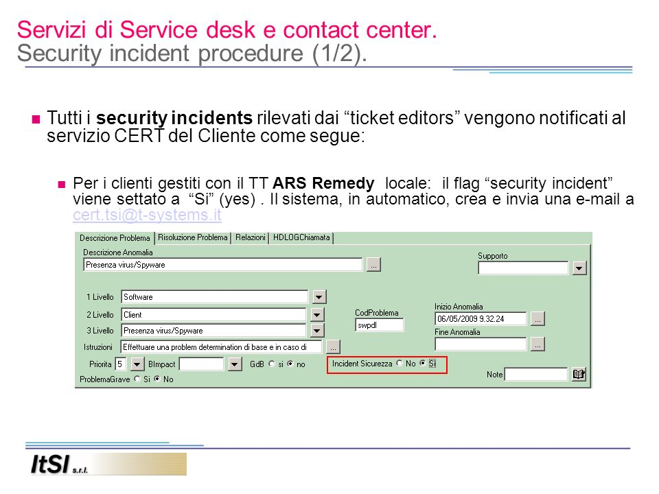 Servizi di Service desk e contact center