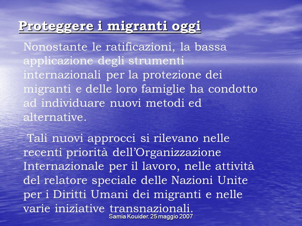 Proteggere i migranti oggi