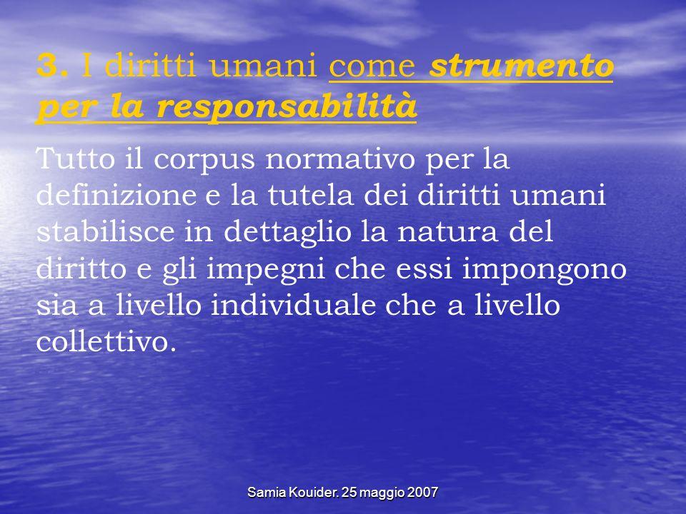3. I diritti umani come strumento per la responsabilità