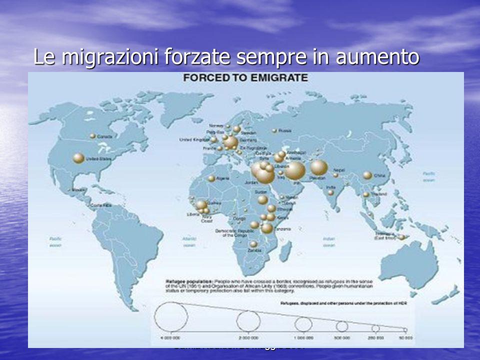 Le migrazioni forzate sempre in aumento