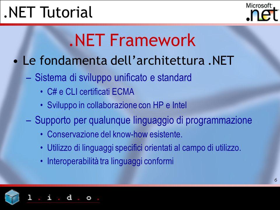.NET Framework Le fondamenta dell'architettura .NET