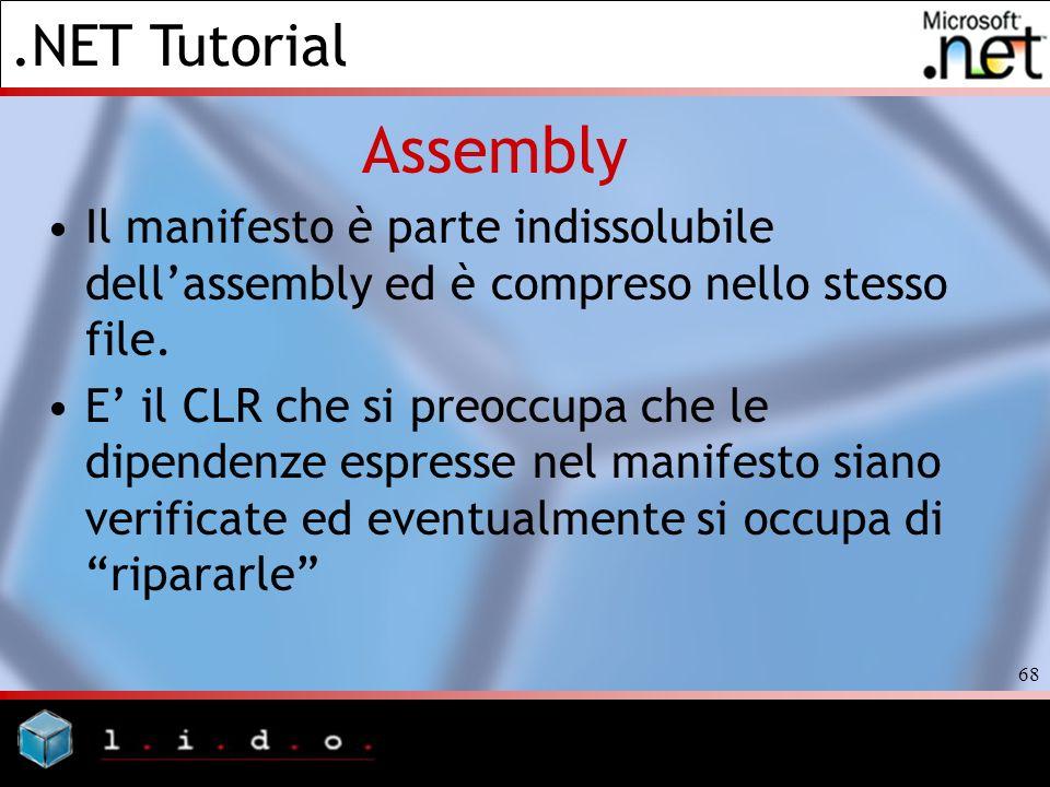 AssemblyIl manifesto è parte indissolubile dell'assembly ed è compreso nello stesso file.